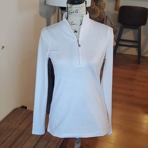 Jofit 4 all white athletic half zipper size xs